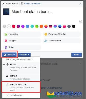 Cara Menyembunyikan Status di Facebook