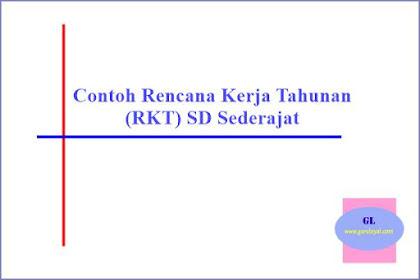 Contoh Rencana Kerja Tahunan (RKT) SD atau Sederajat