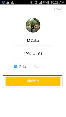 cara mengisi profil di aplikasi hago android