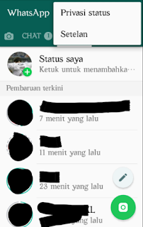 Privasi status whatsapp