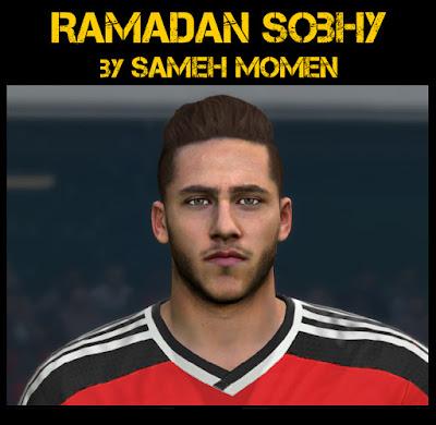 PES 2016 Ramadan Sobhy ( Al-Ahly SC / Egypt ) Face by sameh Momen