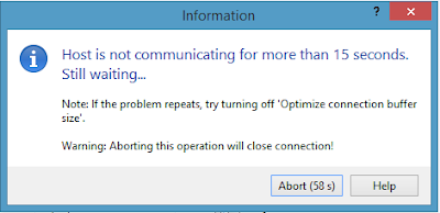 winscp optimize connection buffer size