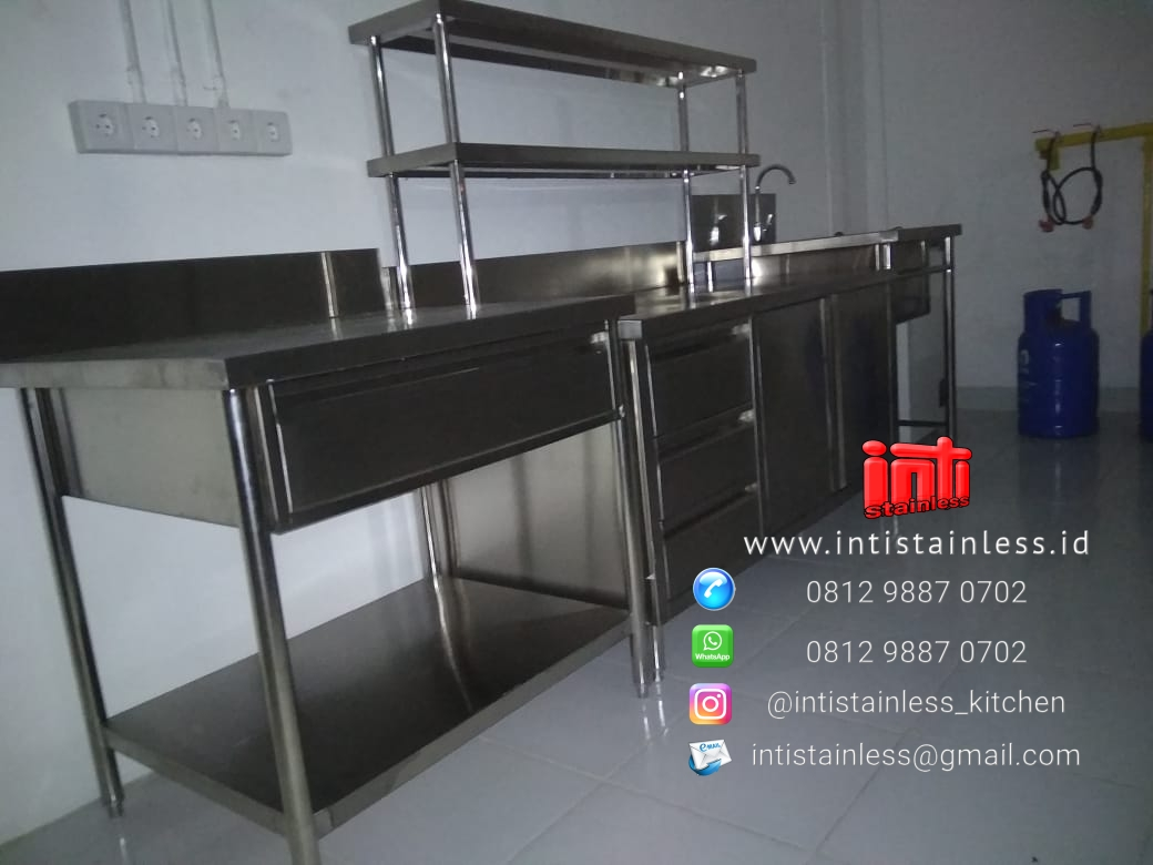 Jual kitchen set stainless meja cabinet stainless lemari stainless lemari obat lemari rumah sakit lemari makanan lemari restoran lemari kabinet