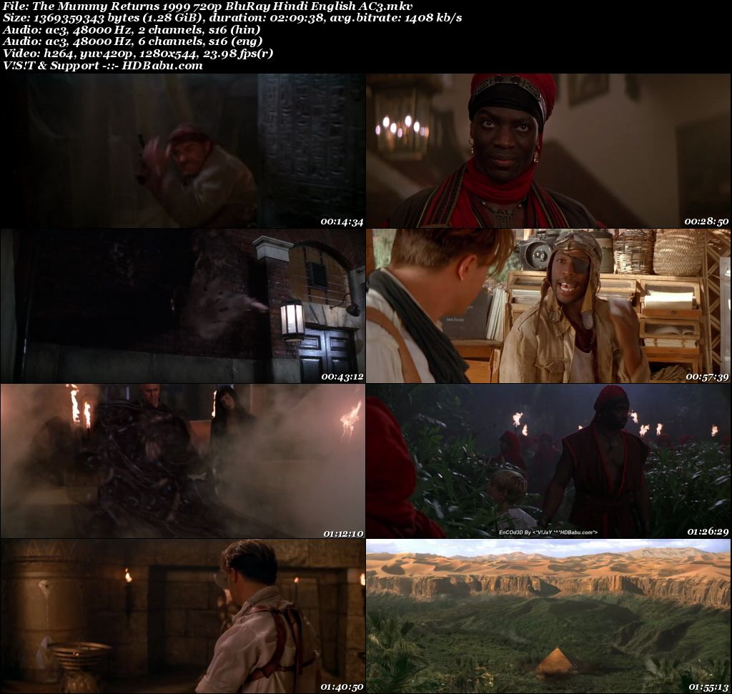 The Mummy Returns 1999 720p BluRay Hindi English AC3 1.3 GB Screenshot
