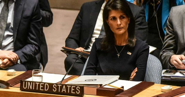 The U.S. Ambassador to the United Nations, Nikki Haley Resigns
