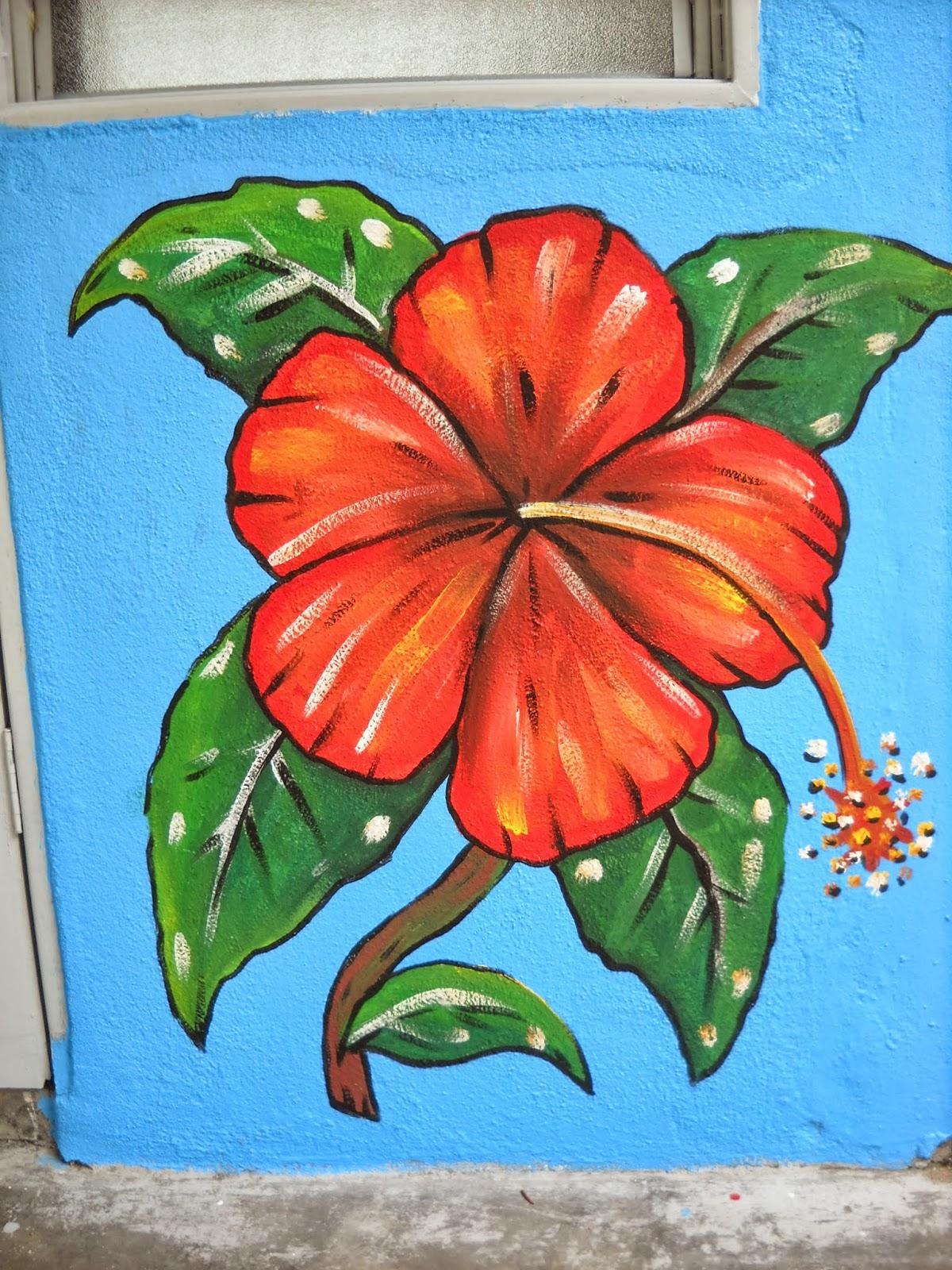 Lukisan Bunga Raya Bunga Kebangsaan
