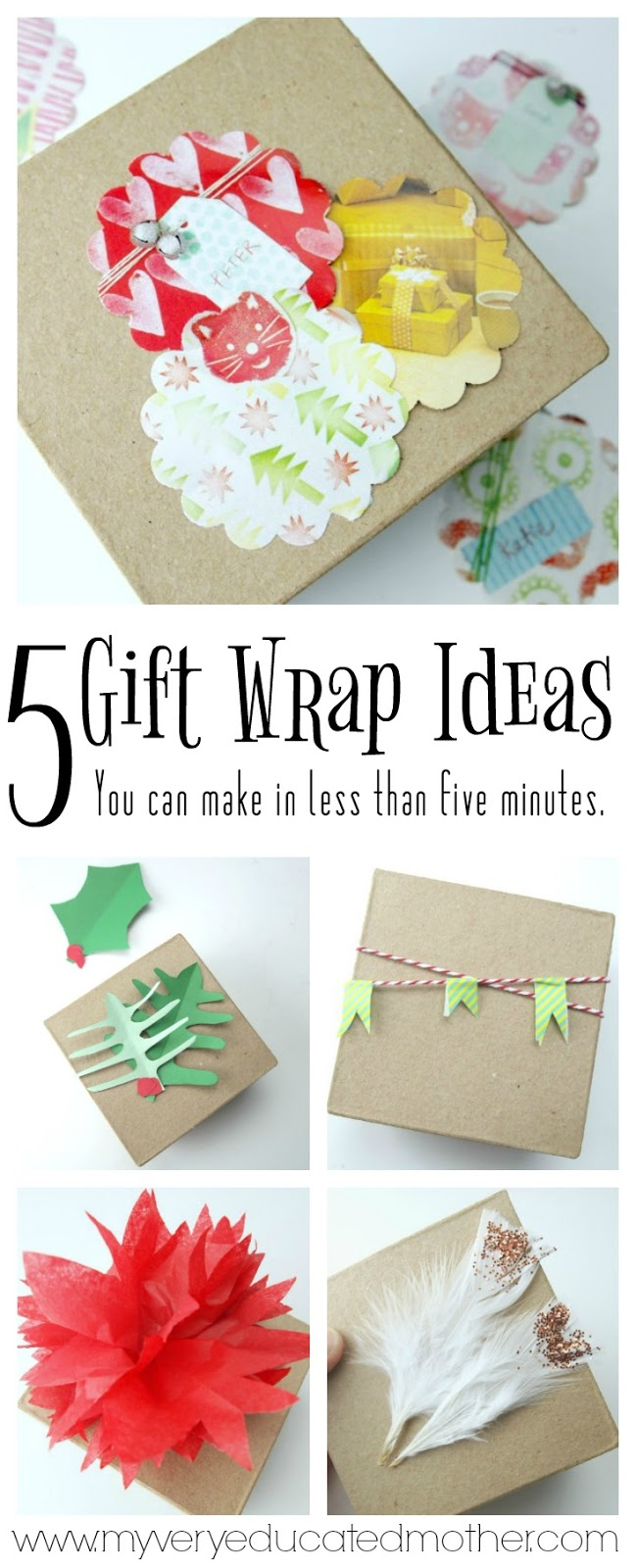 Five Gift Wrap Decorations