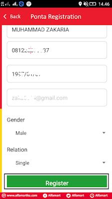 cara daftar di aplikasi alfamart dari android