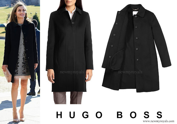 Queen Letizia wore Hugo Boss Cegina coat