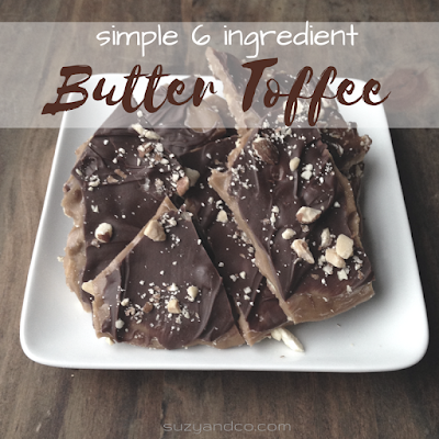 simple 6 ingredient butter toffee recipe