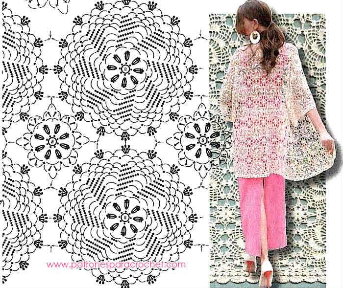 Chaqueta de primavera tejida a crochet / Patrones | Patrones para ...