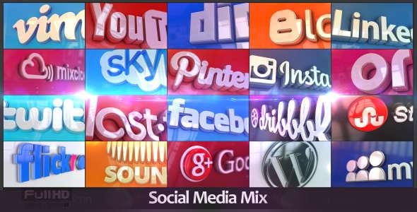 قالب افتر افكت مجاني - مشروع عرض شبكات التواصل الاجتماعي - CC فأعلى