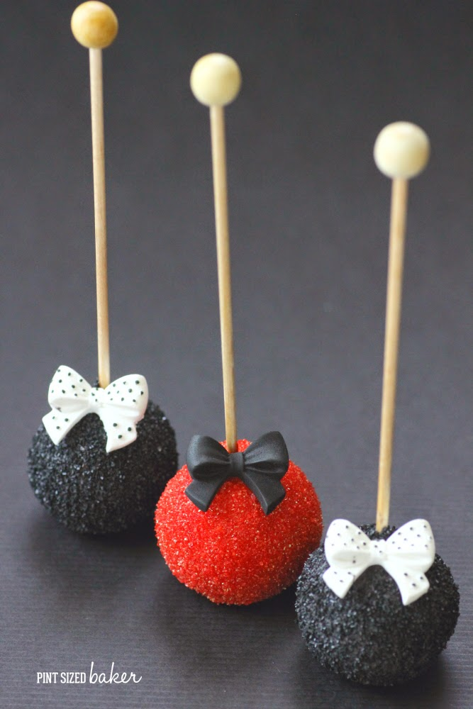 Red White And Black Fancy Cake Pops Pint Sized Baker