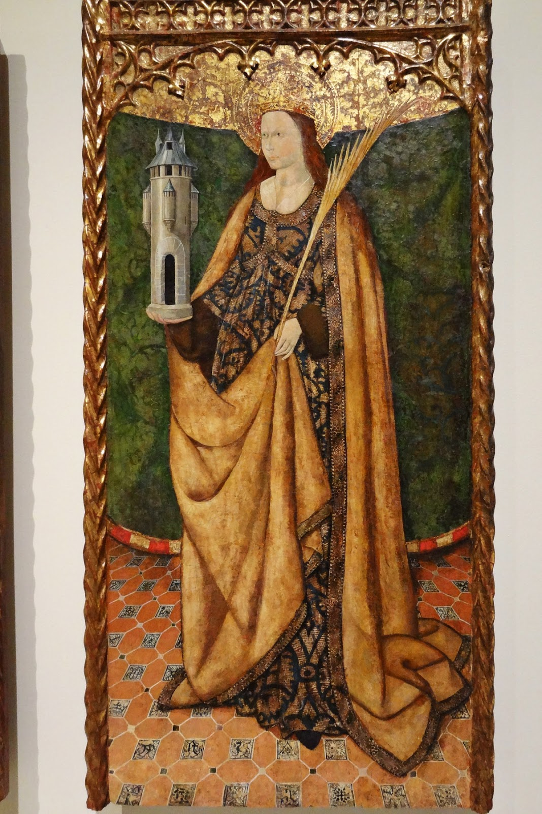 Santa Bárbara en el  Museo de Arte de Cataluña