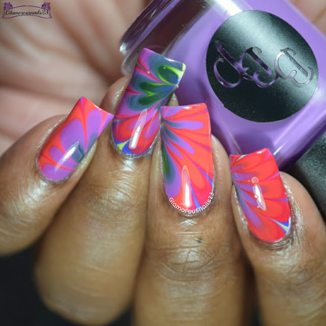 Watermarble Wednesdays: Bad Bitch Polish Northern Hemisphere Collection