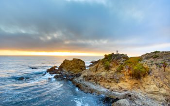 Wallpaper: Sunset at Fort Bragg, California