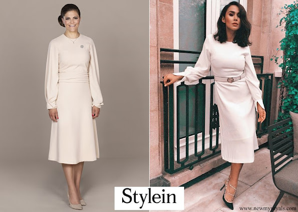 Crown Princess Victoria Of Sweden wore Stylein dress