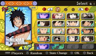 Download Naruto Ultimate Ninja Heroes 3 Mod Menma Uzumaki PPSSPP