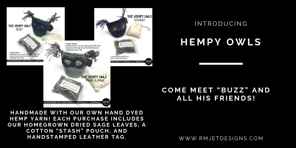 Introducing Our Hemp Owl Kits - Come Meet Buzz & His Friends! - RMJETdesigns.com