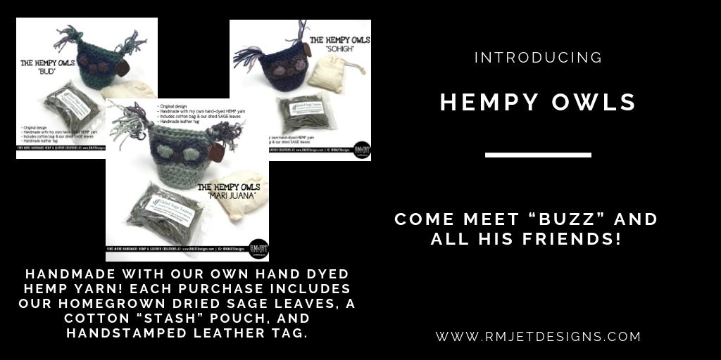 Introducing Our Hemp Owl Kits - Come Meet Buzz & His Friends! - RMJETdesigns.com