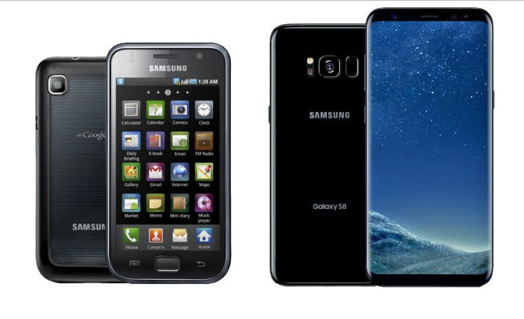 Samsung Galaxy S VS Samsung Galaxy S8