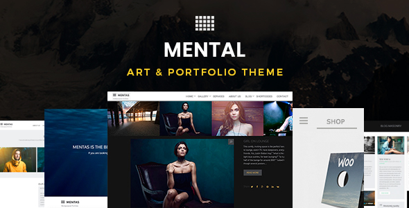 Mentas responsive fine art portfolio wordpress subject for multipurpose usage Download Mental v2.3.0 – Art & Portfolio WordPress Theme