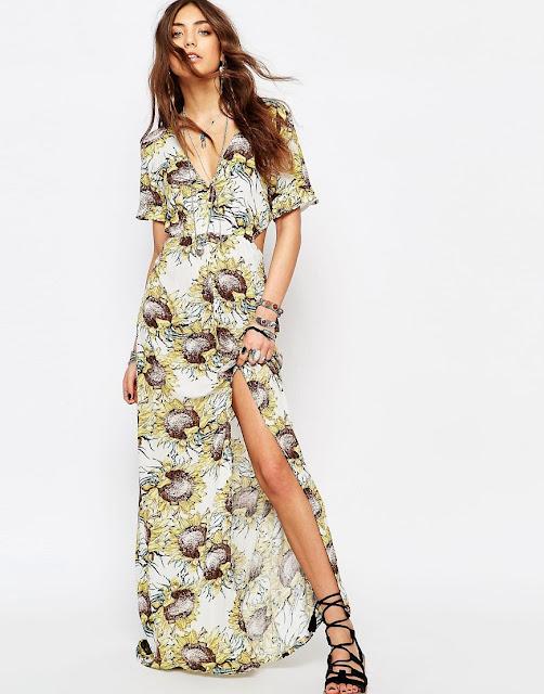 young bohemians maxi dress review, short sleeve print maxi dress,
