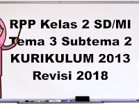 RPP Kelas 2 Tema 3 Tugasku Sehari-hari Subtema 2 K13 Revisi 2018