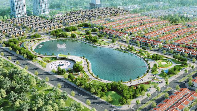 Không gian xanh khu đô thi Dương Nội