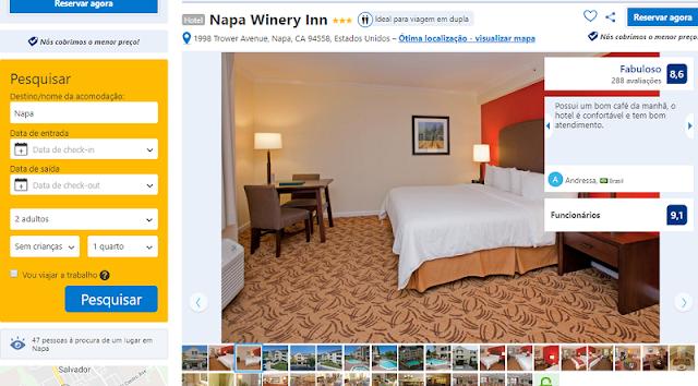 Estadia no Hotel Napa Winery Inn em Napa Valley