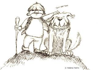 illustration chien de berger  recherche de personnage character design
