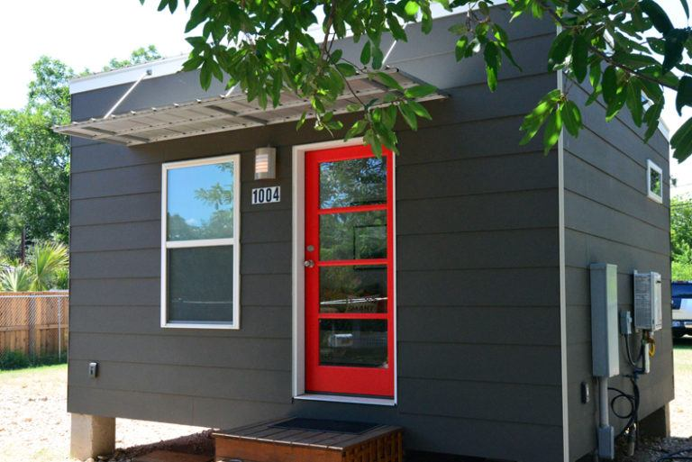 Tiny house town sleek and contemporary tiny home for Accessory dwelling unit austin