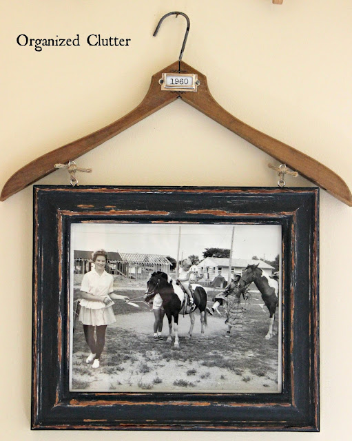 Vintage Clothes Hanger Frame Holder