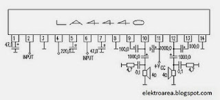 Electronic Circuit Diagrams: LA4440 IC Amplifier