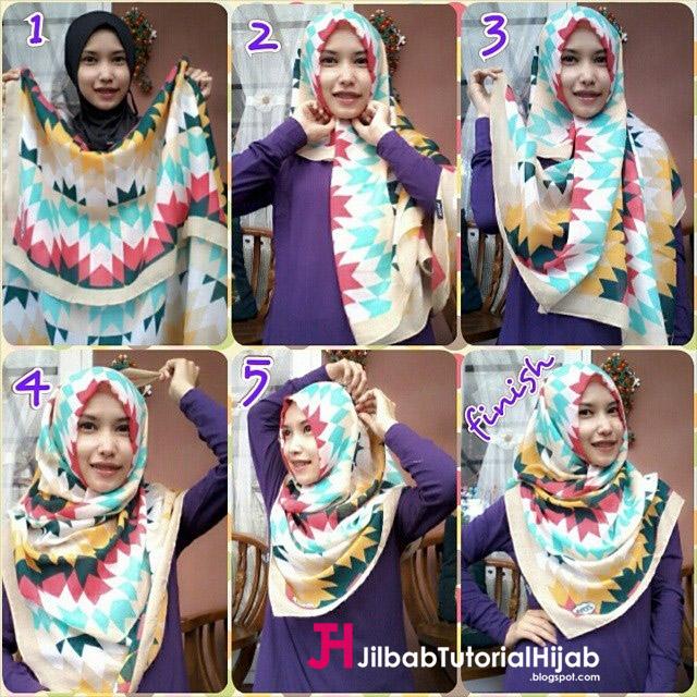 Tutorial Model Hijab Style Menutupi Bagian Dada Full Color