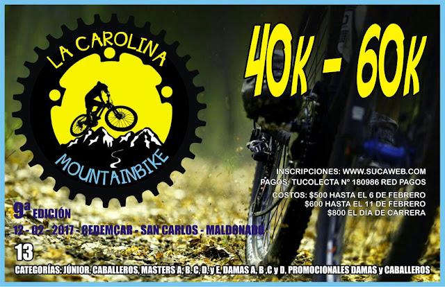 MTB - La Carolina (San Carlos - Maldonado, 12/feb/2017)