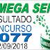 Resultado da Mega Sena concurso 2077 (12/09/2018)