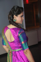 Shilpa Chakravarthy in Purple tight Ethnic Dress ~  Exclusive Celebrities Galleries 004.JPG