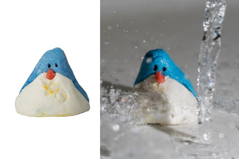 Christmas Penguin Schaumbad