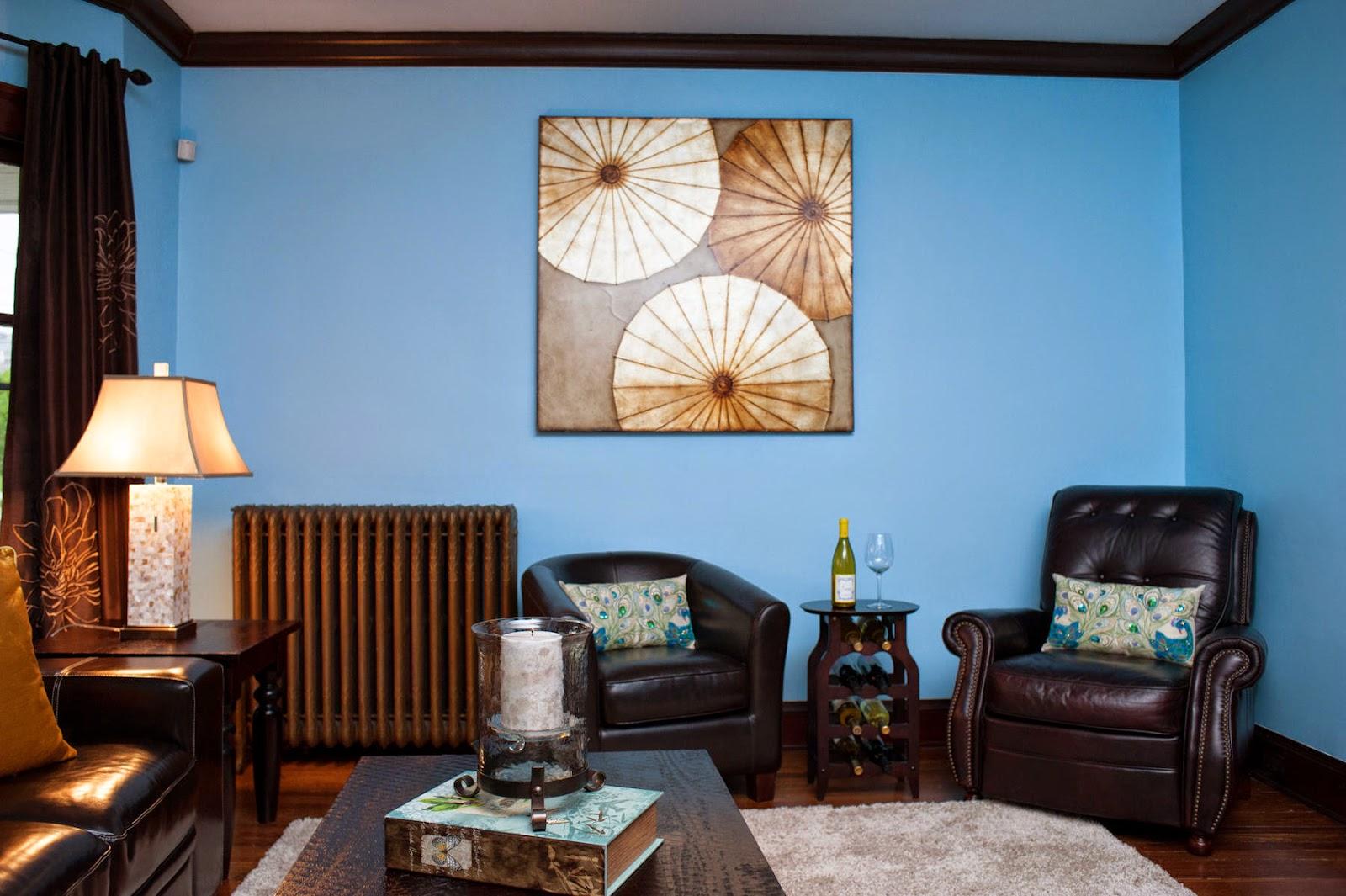 Ruang Tamu Biru Lat Desainrumahid