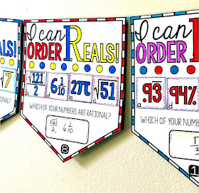 Ordering Real numbers math pennant
