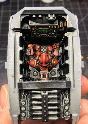 Cerastus Knight-Castigator WIP - completing the interior
