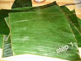 daun pisang untuk bungkus lontong presto
