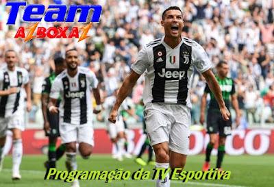 Programação da TV Esportiva ''Quarta'' 16/01/19