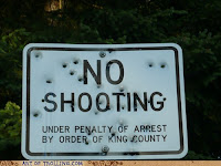 funny fail no shooting sign