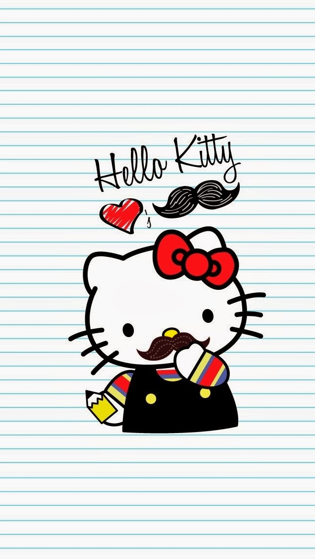 HeLLo KiTTy WiTH MuSTaCHe WaLLPaPeR IPhone 4 960 X 640