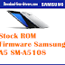 Stock ROM Firmware Samsung  A5 SM-A5108