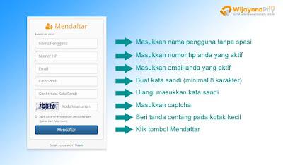 Cara daftar membuat akun WijayanaPay