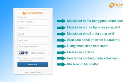 Cara Mendaftar Menjadi Member WijayanaPay