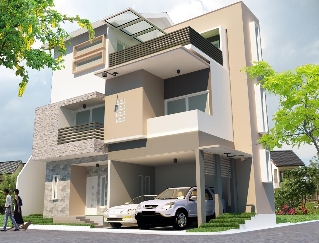 Gambar Contoh Rumah Minimalis 3 Lantai Interior Rumah